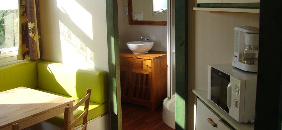 L'intérieur du chalet 6 personnes à Camaret sur Merdans le Finistère