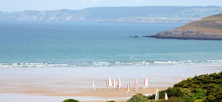 La plage Saint Anne de la Palud dans le Finistère