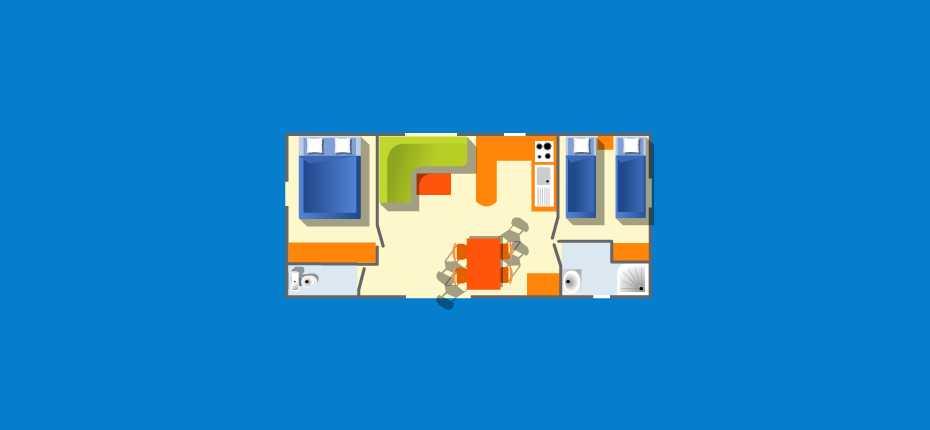 plan du mobilhome du camping de Camaret sur Mer