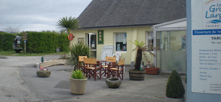 La reception de notre camping de Camaret sur Mer dans le Finistère
