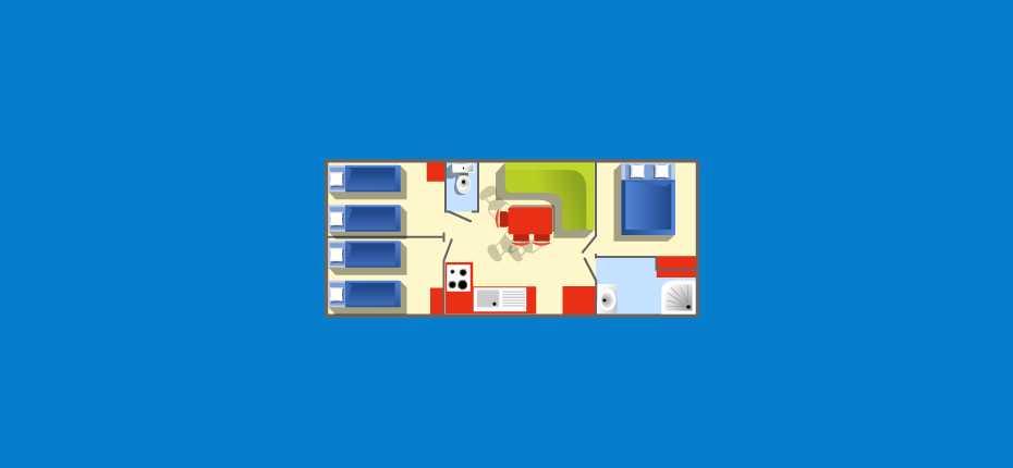 Le plan de votre mobil-home titania sur la presqu'île de Crozon